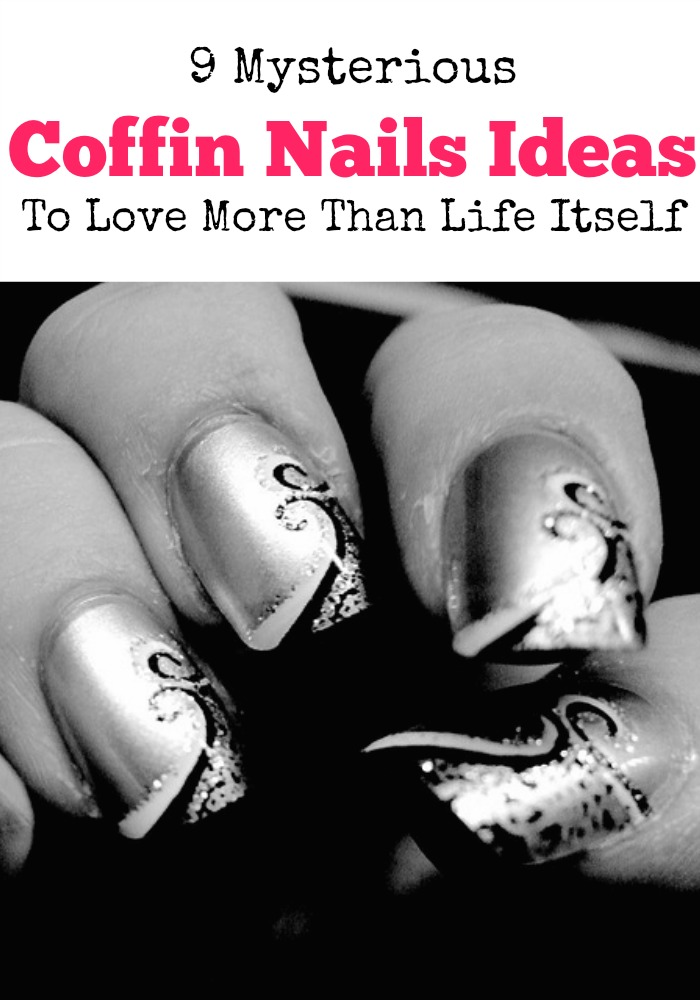 Give your next coffin nails mani a mysterious looCheck out our styles that are slaying this edgy and beautiful look. I love them all!