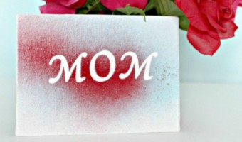 DIY Mother's Day Gift: A MOM Painted Canvas She'll Love