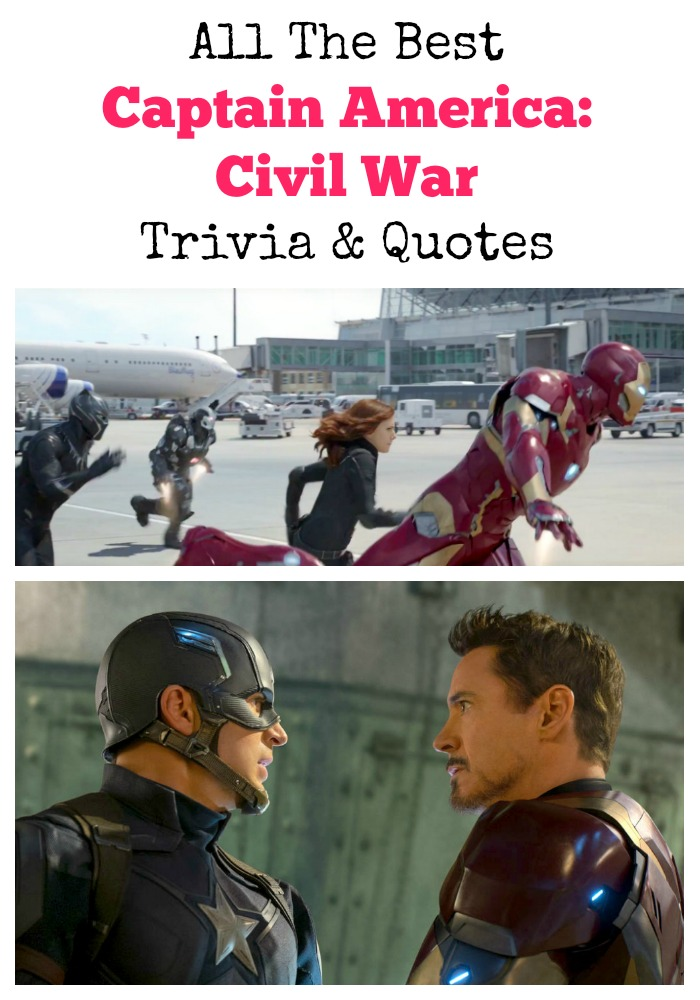 Civil War Quotes Fascinating All The Best Captain America Civil War Trivia And Quotes