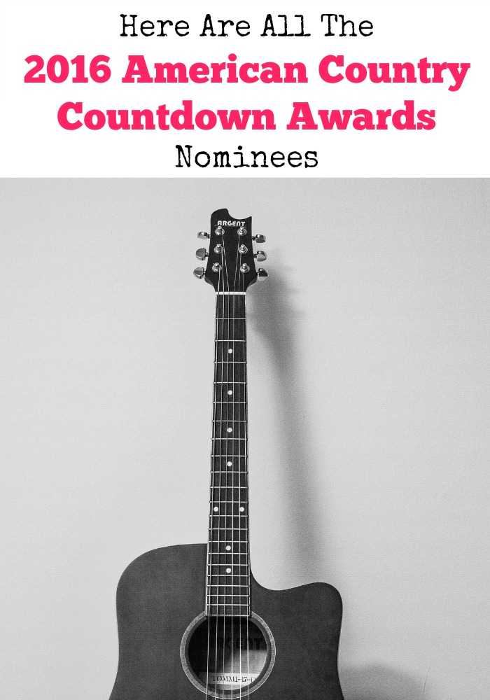 The 2016 American Country Countdown Awards Nominees are here with all your fav country artists on the list. I can't wait to see who wins artist of the year!