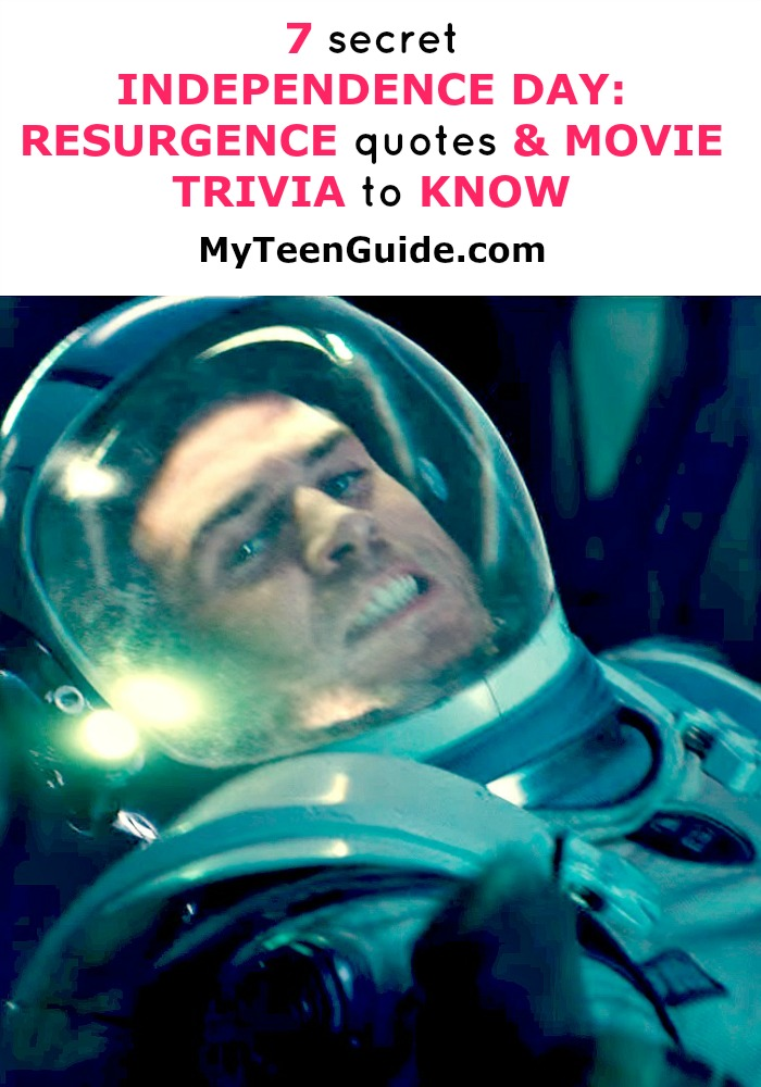 The world is going to end, but before it does you should take a peek into the future at these Independence Day: Resurgence quotes and movie trivia. One of my fav ways to check out the vibe of a new movie is to take a look at the movie quotes and movie trivia. It can give you behind the scenes insight that makes you look like a rock star! The original Independence Day took the theaters by storm, and I have a feeling this intense action film is going to be a movie to watch at the box office this summer. I have my movie and froyo date all planned for this film, ahh summer! Check out all the Independence Day: Resurgence quotes and movie trivia below including the trailer! Make sure you look for the exotic places Independence Day: Resurgence has been filmed, holy cow!