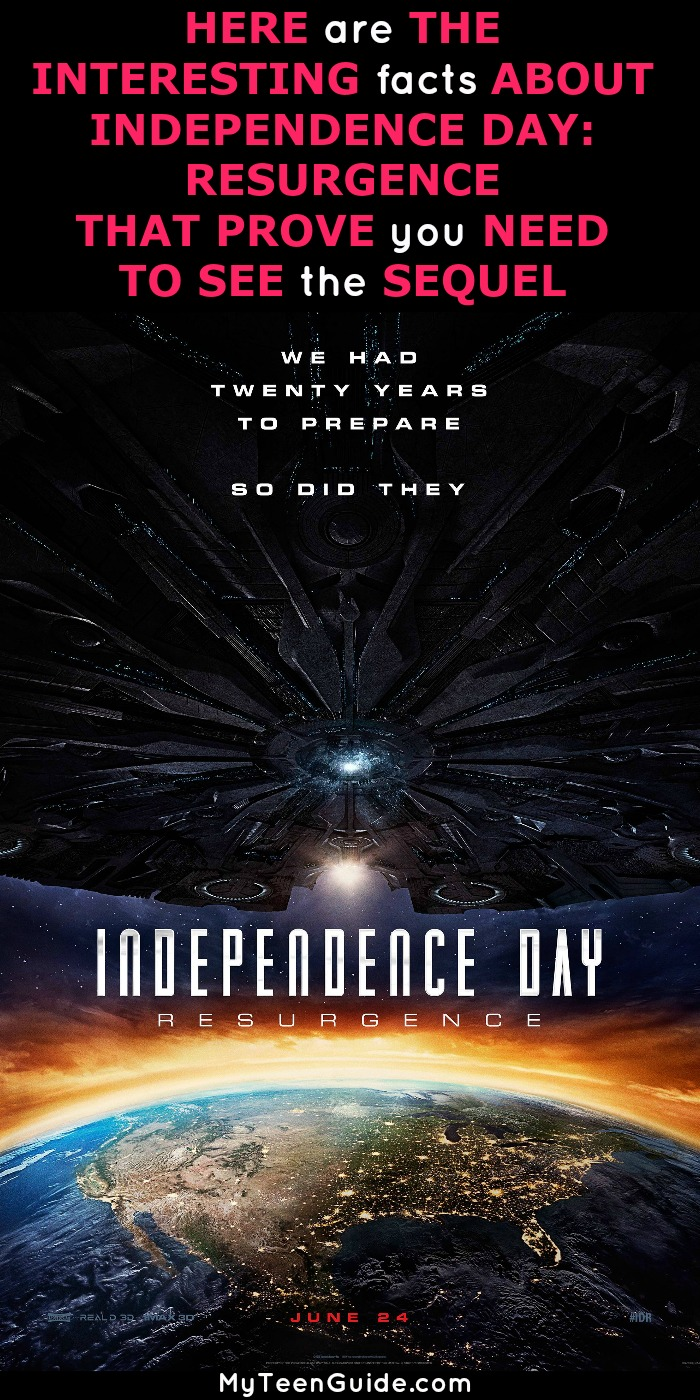 Telling you all about Independence Day Resurgence facts is a day I thought would never come. When it comes to science fiction, disaster movies, it really doesn't get any better than the 1996 Independence Day, right? I can recite so many movie quotes from the original Independence Day. Well, it does get better because now they made the sequel and it is on my list of movies to watch. Independence Day: Resurgence, and it's hitting theaters on June 24, 2016. Are you curious to see how they can one-up the original Independence day? Click to see the details.