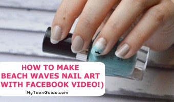 How To Make Beach Waves Nail Art (With Facebook Live Video!)