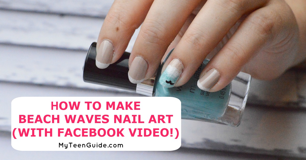 How To Make Beach Waves Nail Art (With Facebook Video!)