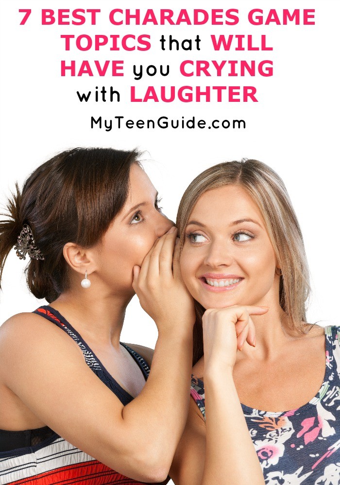 Need a charades list for some inspiration? Check out our list of party game ideas for charades that works for teens and adults! You're going to love this list that includes ideas from movies, music and other fun topics.