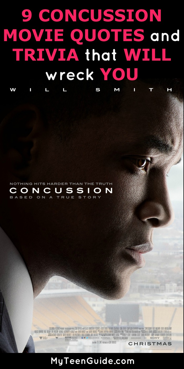 Football injuries can cause some damage and this is the movie to watch that proves it! We've gathered some of the best movie quotes and trivia from the movie Concussion.
