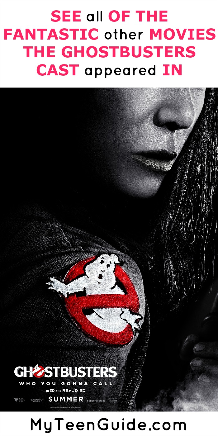 Hey Ghostbusters fans, are you on the lookout for new movies to watch? Start with these films that include the cast of the new Ghostbusters reboot hitting theaters July 2016!