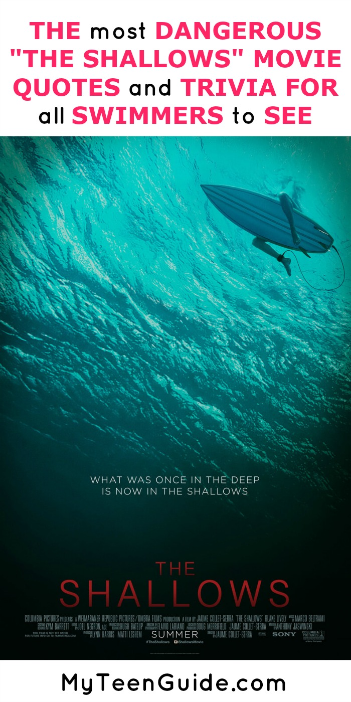 Catch the inside scoop on the latest thriller movie The Shallows. We've got the movie quotes and trivia that may have you keeping your toes firmly in the sand. Anyone else terrified of sharks? *gulp*