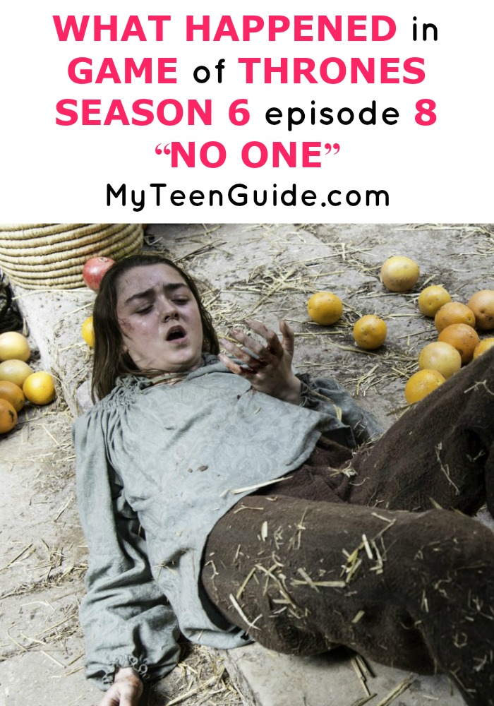"""Get your Game of Thrones facts straight, things are going down with Arya! Find out what happened to the characters this week on GoT! What Happened In Game Of Thrones Season 6 Episode 8? """"No One"""""""