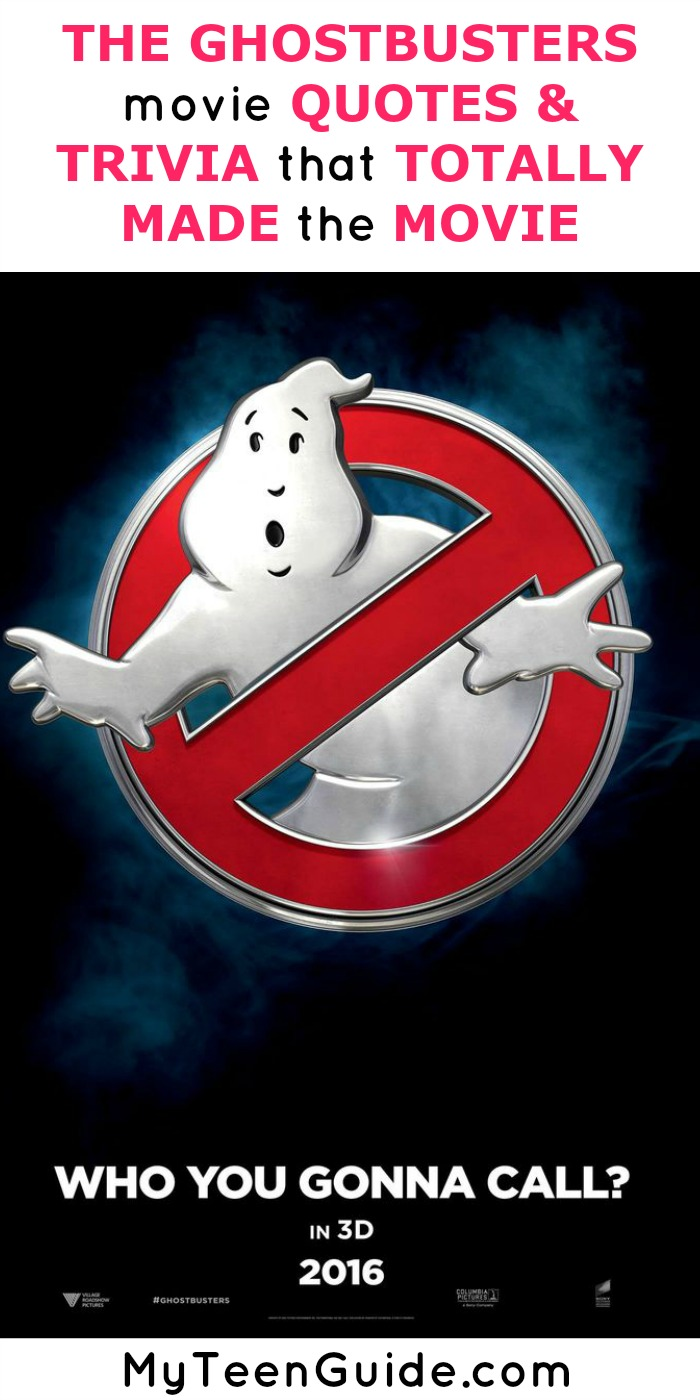 The new Ghostbusters movie quotes have been leaked from the movie! Check out our insider look at all the Ghostbusters movie quotes and trivia over on the blog.