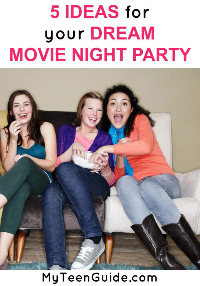 Fun! These ideas for a dream movie night party will make you want to call your besties!