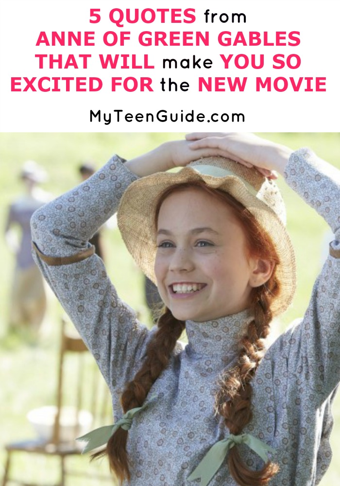 So dreamy! See five quotes from Anne Of Green Gables that will make you so excited for the new movie.