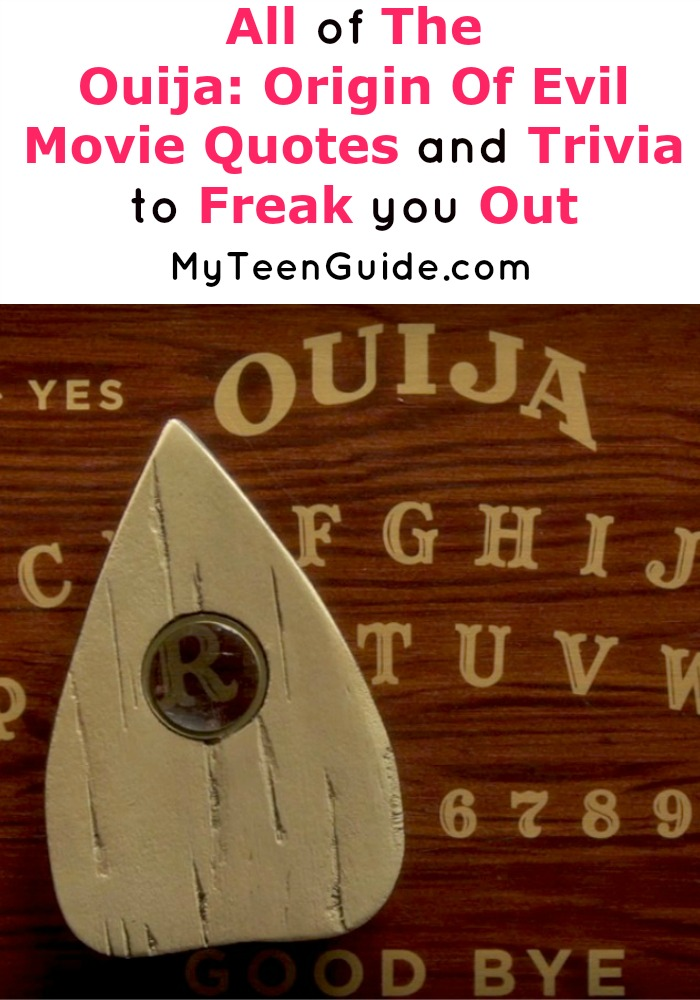 """""""Who else is looking for Ouija: Origin of Evil movie quotes and trivia bits before the movie hits theaters? This insider peek at the movie looks creepy!"""