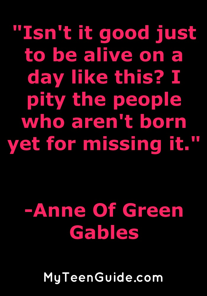 Check out the quotes from Anne Of Green Gables before the new movie.