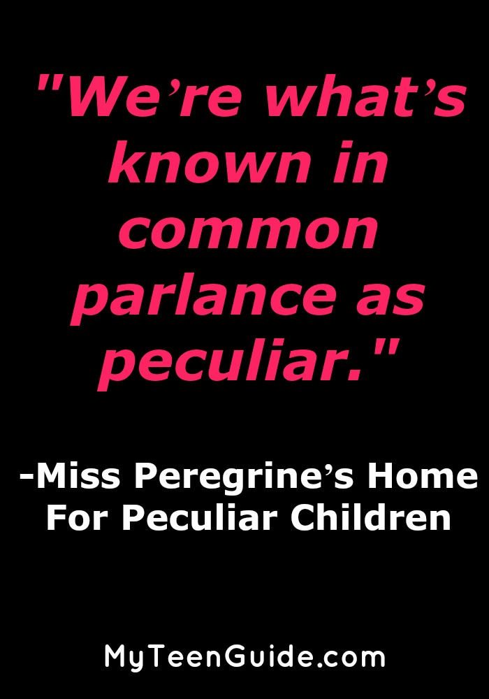 All The Best Movie Quotes From Miss Peregrine's Home for Peculiar Children That Look Really Good