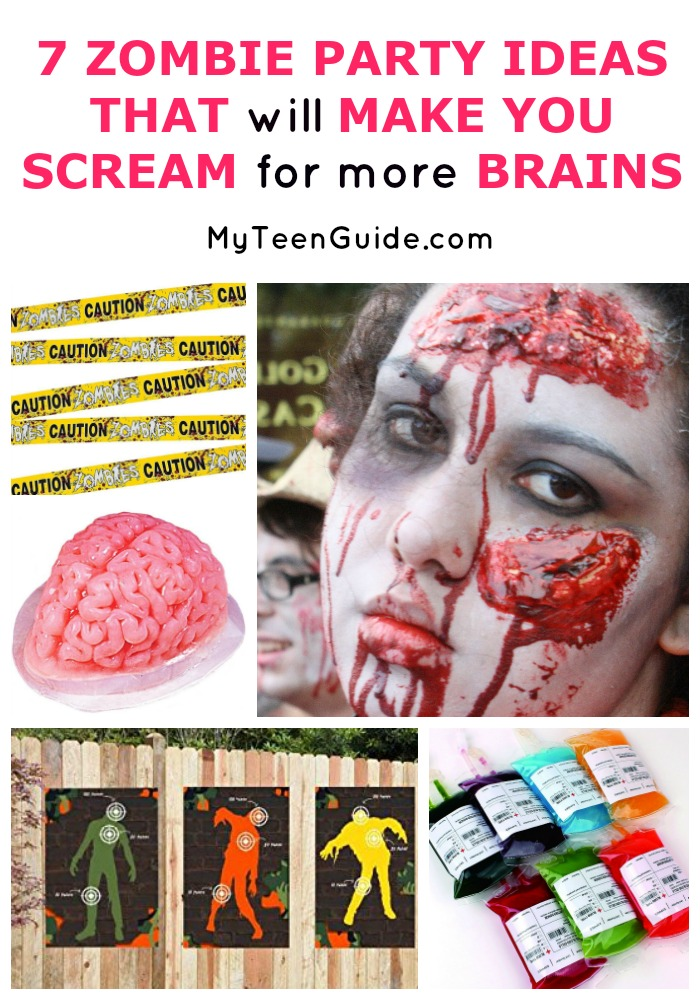 THIS party! See seven zombie party ideas that will make you scream for more brains.