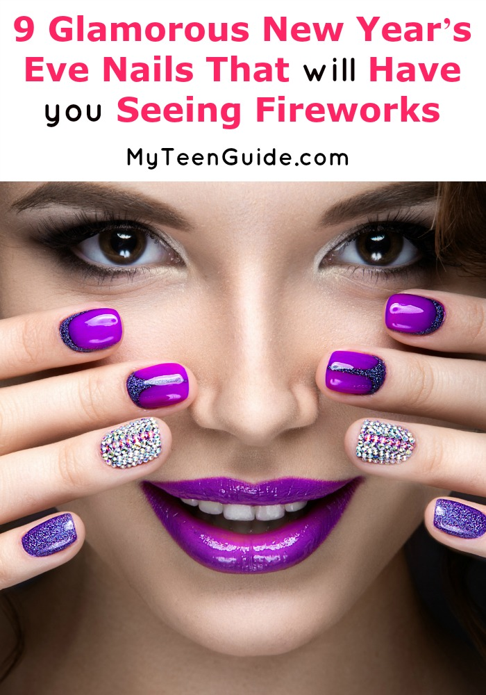 9 Glamorous New Year\'s Eve Nails That Will Have You Seeing Fireworks