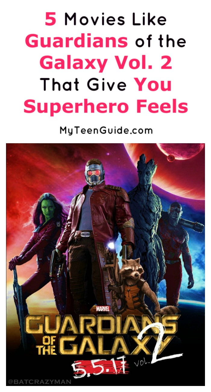 Looking for more fun superhero movies like Guardians of the Galaxy Vol. 2? Check out five more to add to your binge watching list!