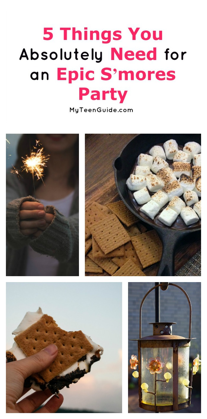 Is there anything better than s'mores in the summer? How about a whole party dedicated to them? Check out everything you need for a s'mores party!