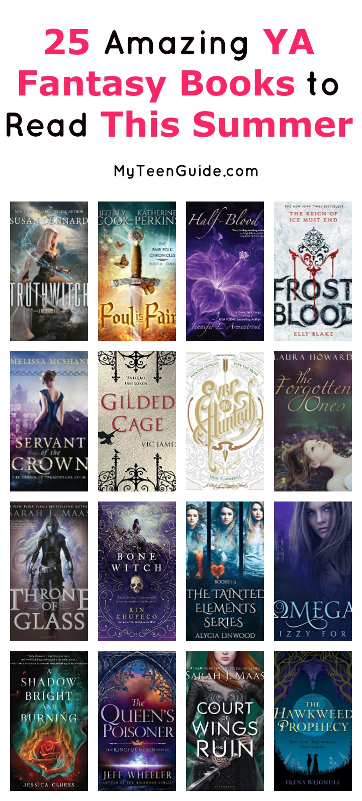 Pad your summer reading list with these X must-read YA fantasy books that beg to be read late into the night! Check them out!