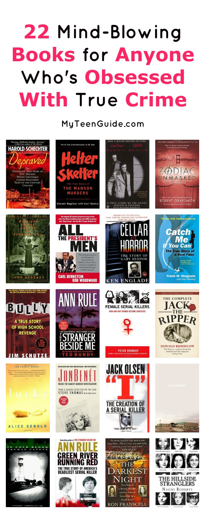 Fancy yourself a master sleuth? Check out 22 mind-blowing books for anyone who is obsessed with true crime! They're a must-have for summer!
