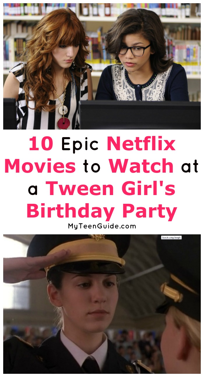 Looking for the perfect Netflix movies for tween girls birthday parties? We've got you covered? These 10 flicks are the perfect slumber party movies to watch. Let's check them out!