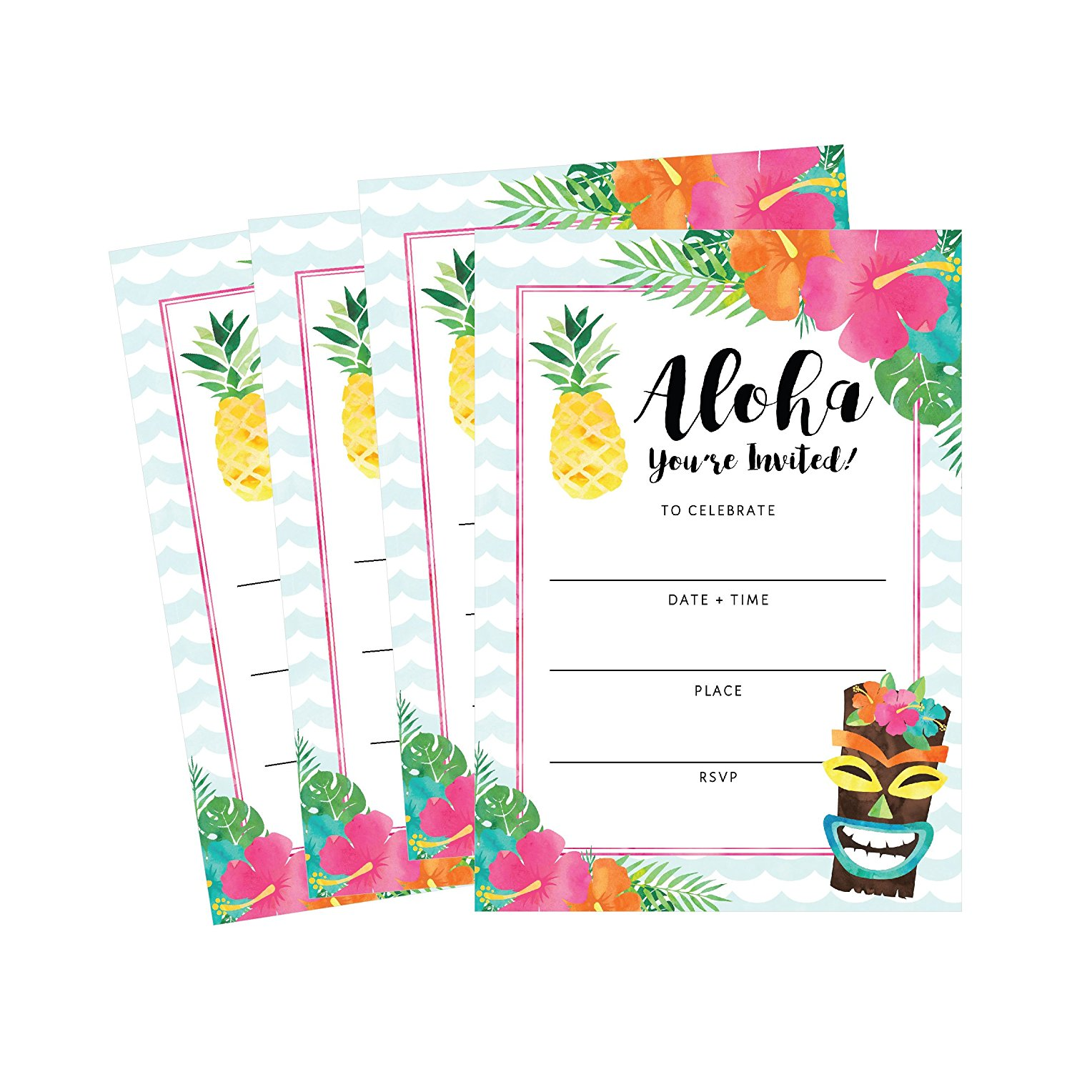 Hawaiian Themed Birthday Party Ideas- Invitations