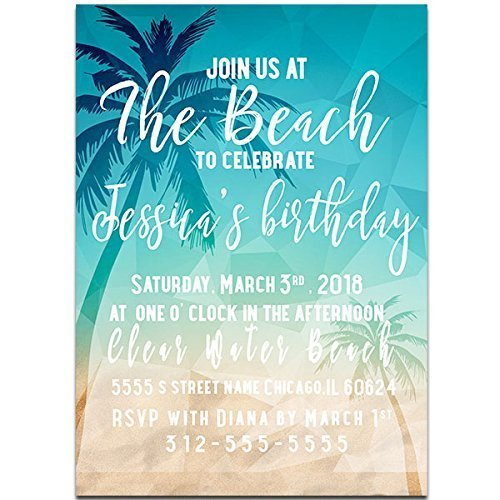 Ocean themed birthday party ideas invitations