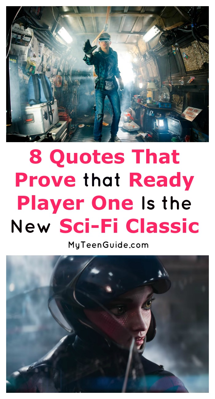 Looking for the best Ready Player One movie quotes? These 8 prove that this is definitely going to be a new sci-fi classic that our grandkids will even be talking about! Check them out, plus check out the Ready Player One movie trailer and cast information!