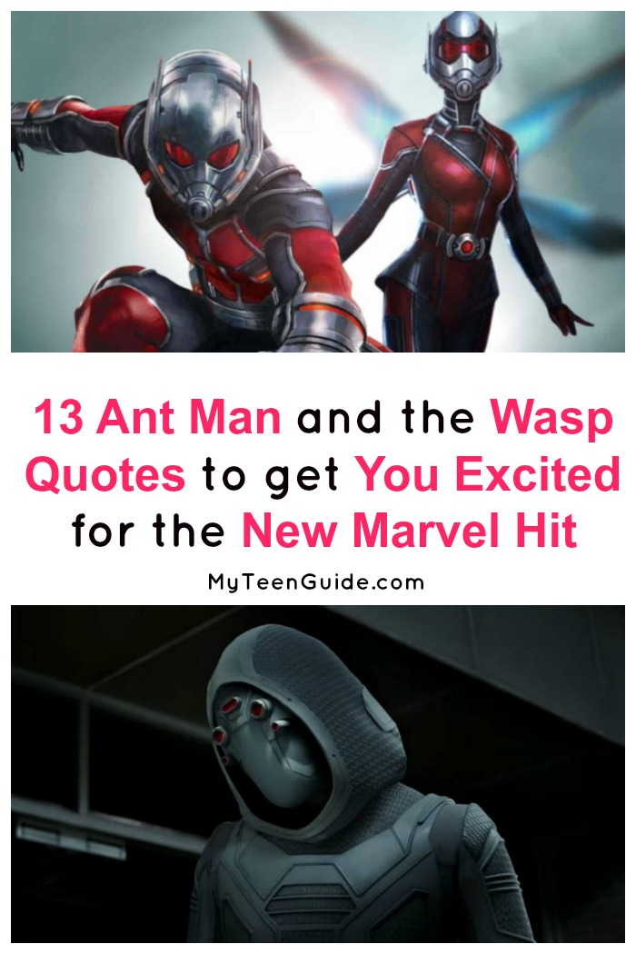 Looking for Ant Man and the Wasp movie quotes? We've got you covered! These 13  are sure to get you super excited about the new Marvel Hit! Plus, check out some Ant Man cast info & movie trivia!