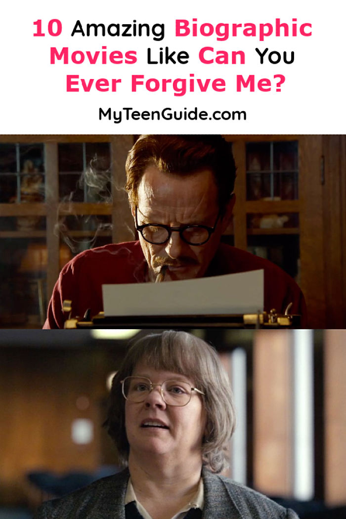 I absolutely love biographical movies like Can You Ever Forgive Me? because you get a true insight into the lives of real people who have had an impact on society. Check out 10 of my favorites!